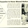 Campus Procession to Honor Blessed Mother May 19