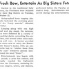 Frosh Bow, Entertain As Big Sisters Fete