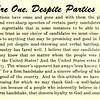 We're One, Despite Parties