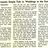 Dale Fife Presents Simple Tale in Weddings in the Family