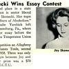 Joy Skonecki Wins Essay