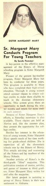 Sr. Margaret Mary Conducts Program For Young Teachers