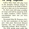 St. Joseph's, G. M. To Sing Together
