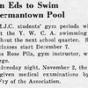 Gwyn Eds to Swim at Germantown Pool