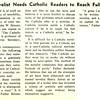 Catholic Novelist Needs Catholic Readers to Reach Full Stature