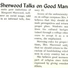 Mrs. Sherwood Talks on Good Manners