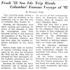 Frosh '53 Sea Isle Trip Rivals Columbus' Famous Voyage of '92