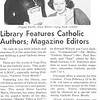 Library Features Catholic Authors; Magazine Editors