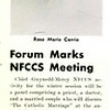 Forum Marks NFCCS Meeting