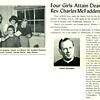 Four Girls Attain Dean's List; Rev. Charles McFadden to Speak