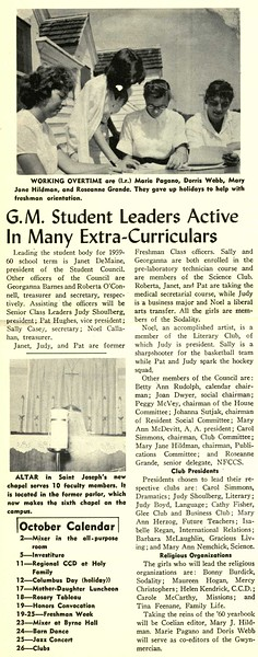 G.M. Student Leaders Active In Many Extra-Curriculars