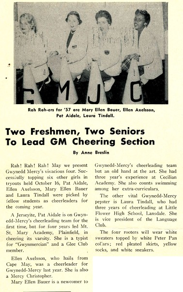Two Freshmen, Two Seniors To Lead GM Cheering Section