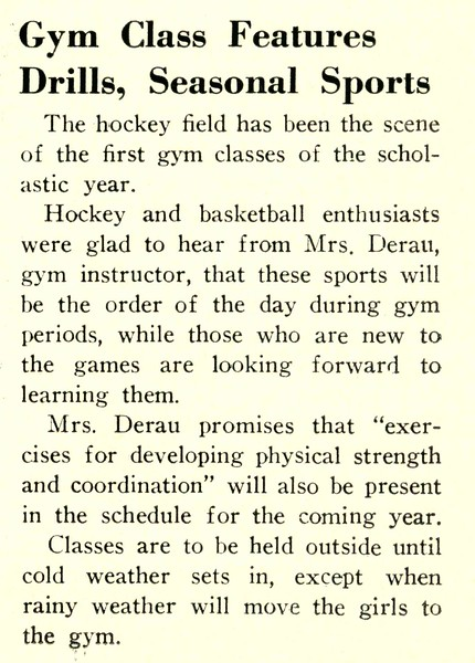 Gym Class Features Drills, Seasonal Sports