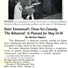 Sister Emmanuel's Three-Act Comedy, The Rehearsal', Is Planned for May 14-16