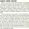 Church Needs Prayer