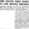 GWYNEDD SALUTES FIRST GRADUATES: TWENTY - ONE RECEIVE DIPLOMAS