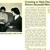 Crowning to Mark Days of May; Honors Gwynedd-Mercy Patron, B.V.M.