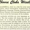 Choose Clubs Wisely