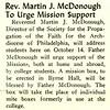 Rev. Martin J. McDonough To urge Mission Support