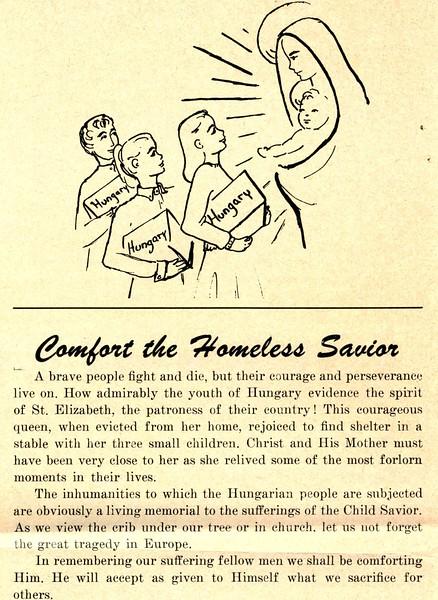 Comfort the Homeless Savior