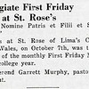 Collegiate First Friday Mass at St. Rose's