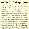 G.M. Represented At W.C. College Day
