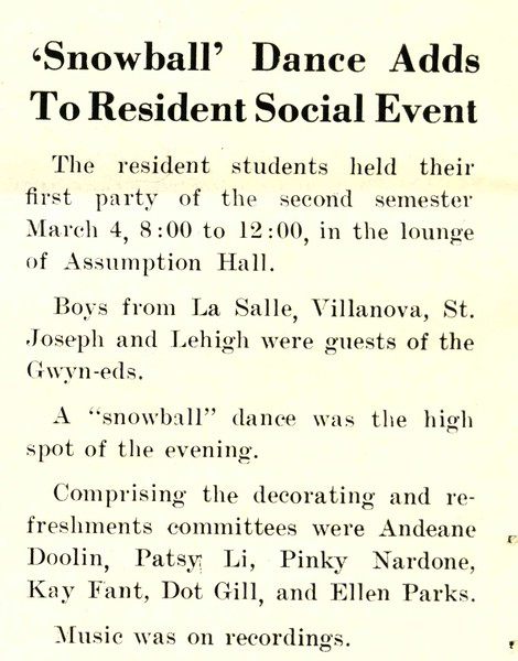'Snowball' Dance Adds To Resident Social Event