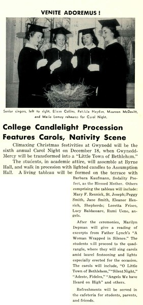 College Candlelight Procession Features Carols, Nativity Scene