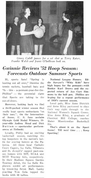 Gwinnie Reviews 52 Hoop Season: Forecasts Outdoor Summer Sports