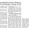 Grad Gossip: Communion Breakfast Unites Alumnae; Three Newly-Engaged Among Grads