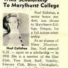 Senior Noel Callahan Wins Scholarship To Marylhurst College