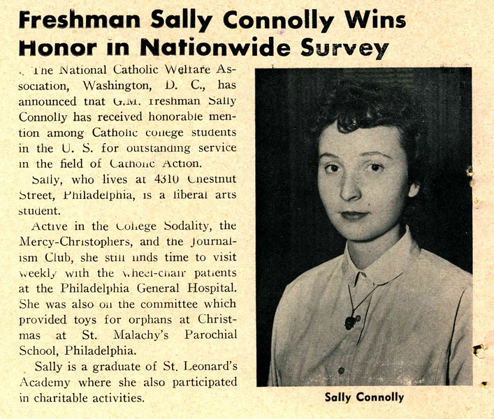 Freshman Sally Connolly Wins Honor in Nationwide Survey