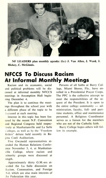 NFCCS To Discuss Racism At Informal Monthly Meetings