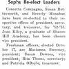 Sophs Re-Elect Leaders