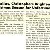 Sodalists, Christophers Brighten Christmas Season for Unfortunates