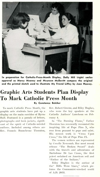 Graphic Arts Students Plan Display To Mark Catholic Press Month