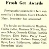 Frosh Get Awards