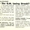 Sports Query of the Month Why The G.M. Losing Streak?