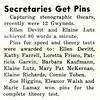Secretaries Get Pins
