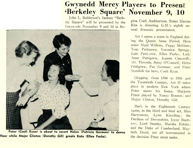"Gwynedd Mercy Players to Present ""Berkeley Square"""