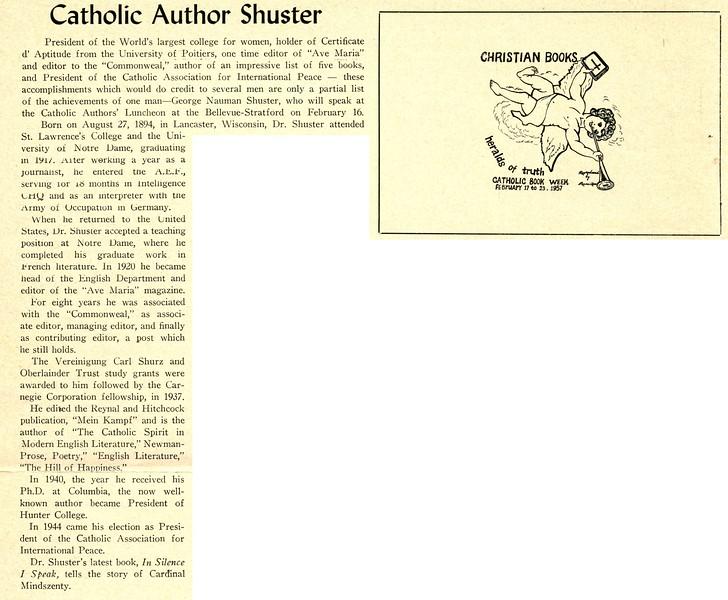 Catholic Author Shuster