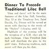 Dinner To Precede Traditional Lilac Ball