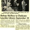 Bishop McShea to Dedicate Lourdes Library September 24