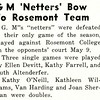 G M 'Netters' Bow To Rosemont Team