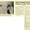 Ninth Annual Carol Nighi Climaxes G.M. Activities