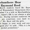 Merchandisers Hear Mr. Raymond Reed
