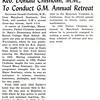 Rev. Donald Chisholm, M.M., To Conduct G.M. Annual Retreat