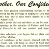 Mother, Our Confidence