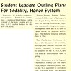 Student Leaders Outline Plans For Sodality, Honor System