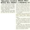 Education involves Whole Man' Writes Rev. Walter J. Handren, SJ